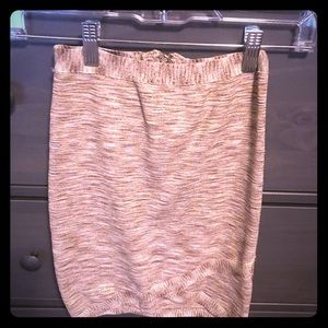 Worn once gold and tan mini skirt